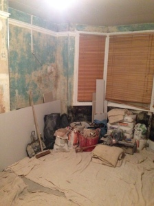Our unrecognisable building site of a living room