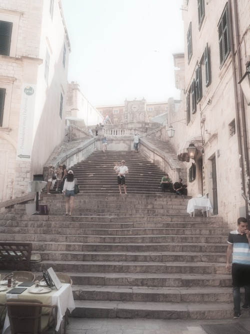 We underestimated the steps in Dubrovnik Old Town