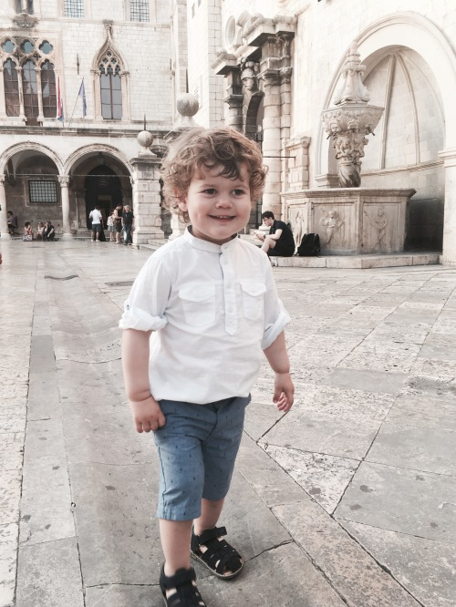 Lex rocking his evening outfit in Dubrovnik Old Town